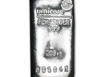 Venta sin pagos en línea: Lingote 250 gramos de Plata