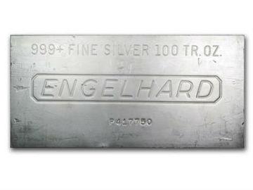 Venta sin pagos en línea: Lingote de plata Engelhard de 100 Onzas
