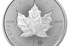 Venta sin pagos en línea: Moneda de Maple Leaf Impresa 1 oz de Plata 2018