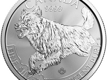 Venta sin pagos en línea: 1 oz Lobo Serie Predator de plata