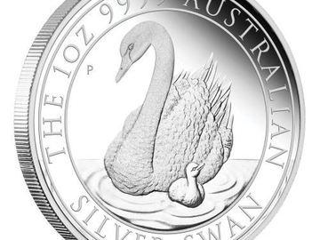 Venta sin pagos en línea: 1 oz Perth Mint Silver Swan (2018)